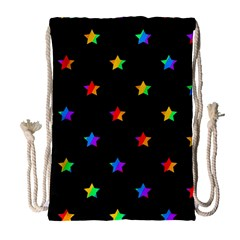 Stars Pattern Drawstring Bag (large) by Valentinaart