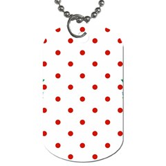 Flower Floral Polka Dot Orange Dog Tag (two Sides)