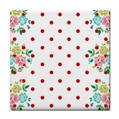 Flower Floral Polka Dot Orange Face Towel