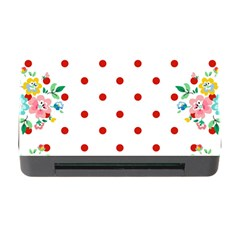 Flower Floral Polka Dot Orange Memory Card Reader With Cf by Mariart