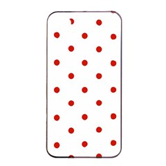 Flower Floral Polka Dot Orange Apple Iphone 4/4s Seamless Case (black) by Mariart