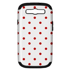 Flower Floral Polka Dot Orange Samsung Galaxy S Iii Hardshell Case (pc+silicone)