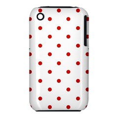 Flower Floral Polka Dot Orange Iphone 3s/3gs by Mariart