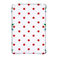 Flower Floral Polka Dot Orange Apple Ipad Mini Hardshell Case (compatible With Smart Cover)