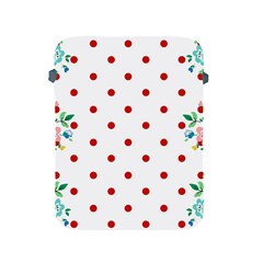 Flower Floral Polka Dot Orange Apple Ipad 2/3/4 Protective Soft Cases by Mariart