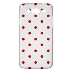 Flower Floral Polka Dot Orange Samsung Galaxy Mega 5 8 I9152 Hardshell Case  by Mariart