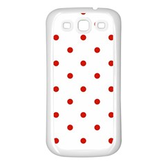 Flower Floral Polka Dot Orange Samsung Galaxy S3 Back Case (white) by Mariart