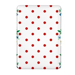 Flower Floral Polka Dot Orange Samsung Galaxy Tab 2 (10 1 ) P5100 Hardshell Case  by Mariart