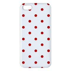Flower Floral Polka Dot Orange Iphone 5s/ Se Premium Hardshell Case by Mariart