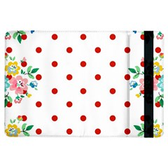 Flower Floral Polka Dot Orange Ipad Air Flip by Mariart