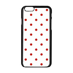 Flower Floral Polka Dot Orange Apple Iphone 6/6s Black Enamel Case by Mariart