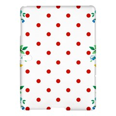 Flower Floral Polka Dot Orange Samsung Galaxy Tab S (10 5 ) Hardshell Case  by Mariart