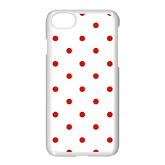 Flower Floral Polka Dot Orange Apple Iphone 7 Seamless Case (white) by Mariart