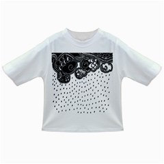 Batik Rain Black Flower Spot Infant/toddler T Shirts by Mariart