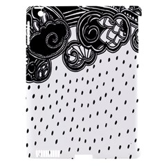 Batik Rain Black Flower Spot Apple Ipad 3/4 Hardshell Case (compatible With Smart Cover) by Mariart