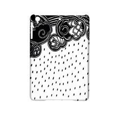 Batik Rain Black Flower Spot Ipad Mini 2 Hardshell Cases by Mariart