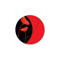 Flower Floral Red Black Sakura Line Golf Ball Marker by Mariart