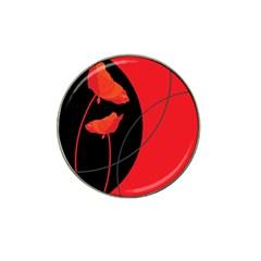 Flower Floral Red Black Sakura Line Hat Clip Ball Marker (10 Pack) by Mariart
