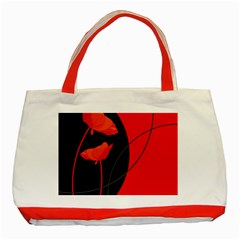 Flower Floral Red Black Sakura Line Classic Tote Bag (red) by Mariart