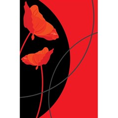 Flower Floral Red Black Sakura Line 5 5  X 8 5  Notebooks by Mariart