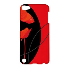 Flower Floral Red Black Sakura Line Apple Ipod Touch 5 Hardshell Case by Mariart