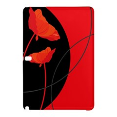 Flower Floral Red Black Sakura Line Samsung Galaxy Tab Pro 10 1 Hardshell Case by Mariart