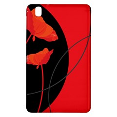 Flower Floral Red Black Sakura Line Samsung Galaxy Tab Pro 8 4 Hardshell Case by Mariart