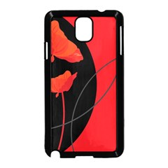 Flower Floral Red Black Sakura Line Samsung Galaxy Note 3 Neo Hardshell Case (black)