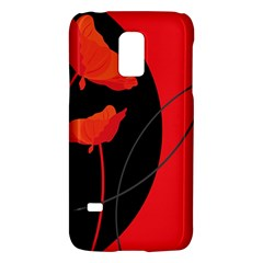 Flower Floral Red Black Sakura Line Galaxy S5 Mini