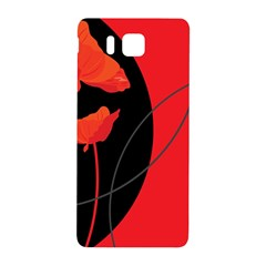 Flower Floral Red Black Sakura Line Samsung Galaxy Alpha Hardshell Back Case by Mariart