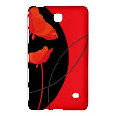 Flower Floral Red Black Sakura Line Samsung Galaxy Tab 4 (8 ) Hardshell Case  by Mariart