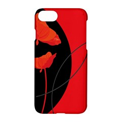 Flower Floral Red Black Sakura Line Apple Iphone 7 Hardshell Case by Mariart