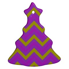Zig Zags Pattern Christmas Tree Ornament (two Sides) by Valentinaart