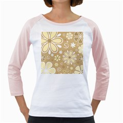 Flower Floral Star Sunflower Grey Girly Raglans by Mariart