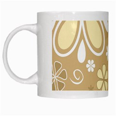 Flower Floral Star Sunflower Grey White Mugs by Mariart