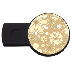 Flower Floral Star Sunflower Grey Usb Flash Drive Round (2 Gb) by Mariart