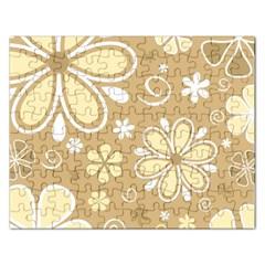 Flower Floral Star Sunflower Grey Rectangular Jigsaw Puzzl by Mariart