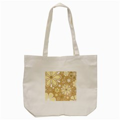 Flower Floral Star Sunflower Grey Tote Bag (cream) by Mariart