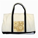 Flower Floral Star Sunflower Grey Two Tone Tote Bag Front