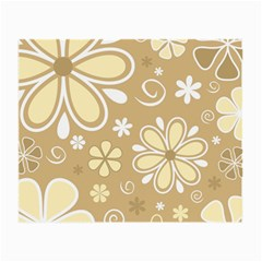 Flower Floral Star Sunflower Grey Small Glasses Cloth (2 Side) by Mariart