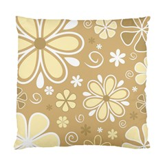 Flower Floral Star Sunflower Grey Standard Cushion Case (two Sides) by Mariart