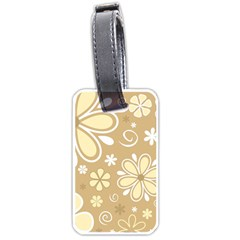 Flower Floral Star Sunflower Grey Luggage Tags (one Side)  by Mariart