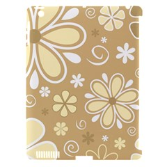 Flower Floral Star Sunflower Grey Apple Ipad 3/4 Hardshell Case (compatible With Smart Cover) by Mariart