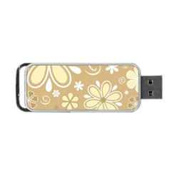 Flower Floral Star Sunflower Grey Portable Usb Flash (one Side) by Mariart