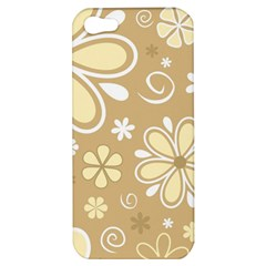 Flower Floral Star Sunflower Grey Apple Iphone 5 Hardshell Case by Mariart
