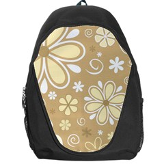 Flower Floral Star Sunflower Grey Backpack Bag by Mariart