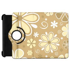Flower Floral Star Sunflower Grey Kindle Fire Hd 7  by Mariart