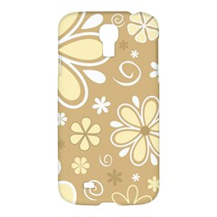 Flower Floral Star Sunflower Grey Samsung Galaxy S4 I9500/i9505 Hardshell Case by Mariart