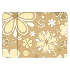 Flower Floral Star Sunflower Grey Samsung Galaxy Tab 8 9  P7300 Flip Case by Mariart