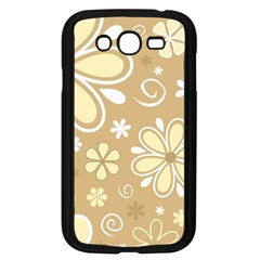Flower Floral Star Sunflower Grey Samsung Galaxy Grand Duos I9082 Case (black)